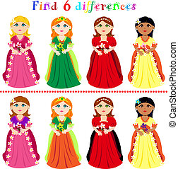 Difference game with princesses