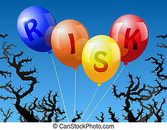 Balloons Risk - Four balloons, which are labeled with the...