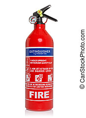 Fire extinguisher isolated on white with clipping path -...