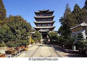 Lijiang old city, Yunnan, China - The street in Lijiang old...