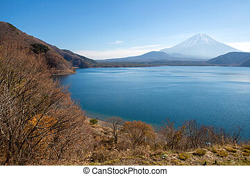 fujisan with Motosu lake - Mountain Fuji fujisan with Motosu...