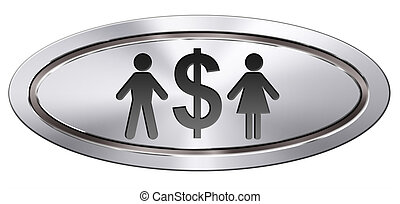 equal pay equal rights for man and woman on work marked fair...