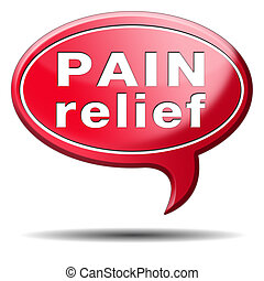 pain relief or management by painkiller or other treatment...