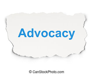 Law concept: Advocacy on Paper background - Law concept:...