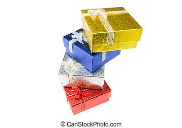 navidad, importante, fiesta, regalo, caja, Conjunto, alto,...