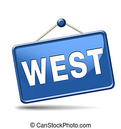 west side - west geographical direction western world