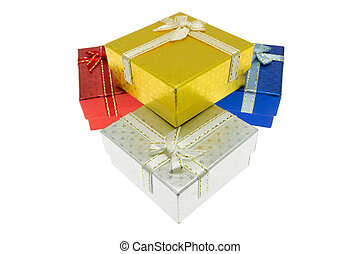 navidad, importante, fiesta, regalo, caja, Conjunto