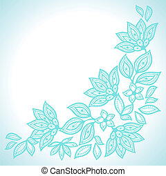 Delicate lace background, abstract ornament