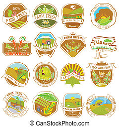 Vintage Retro Farm Labels