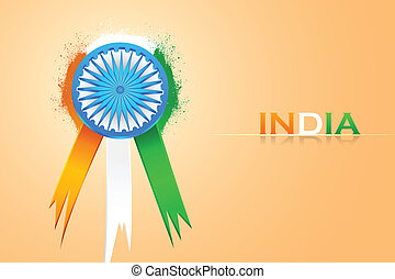 Indian Badge - easy to edit vector illustration of badge for...