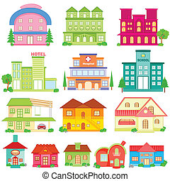 Building Icon Collection - easy to edit vector illustration...