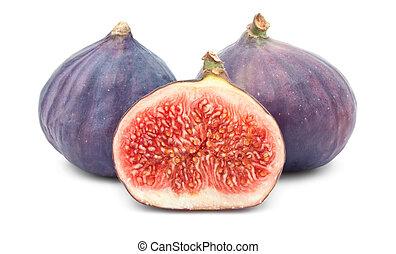Fig - Fresh fig fruits isolated on white background