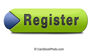 register here en no sign or icon Membership registration...