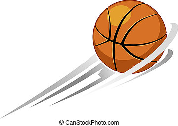 basketball - illustration of flying basketball as sign for...