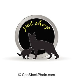 pet shop icon vector illustration