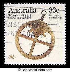 selo,  Austrália, impresso
