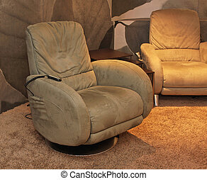 Massage chair - Modern arm chair with mechanical massage