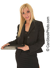 Sexy blonde businesswoman - Sexy young adult Caucasian...