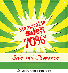 Memorable sale poster, Vector illustration