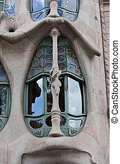 Casa Batllo - Facade of famous house Casa Batllo by Antoni...