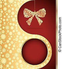 Christmas background with snowflakes design. Vector