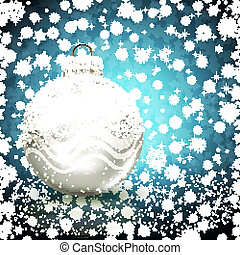 Background with Christmas ball. vector illustration