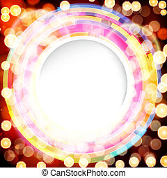 Abstract digital background with a round space for your...