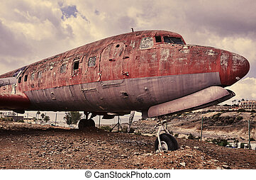 ramshackle airplane - picture of an old and ramshackle...