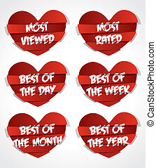 Diferent Best Of Red Abstract Heart Sticker vector...