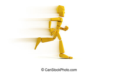 isolated symbolic running man