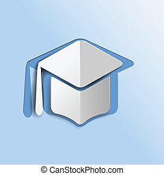 Graduation mortar hat icon