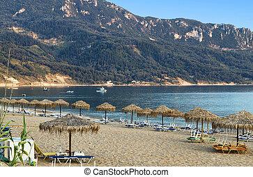 Corfu island in Greece - Saint George beach at Corfu island...