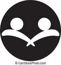 empresa / negocio, icono, apretón de manos