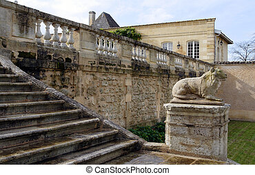 stone stairway - stairway to the front entrance to the...
