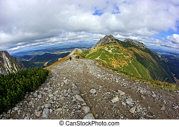 Giewont, landscape od Tatras Mountain in Poland - Giewont,...