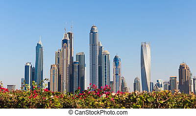 General view of the Dubai Marina UAE - : General view of the...