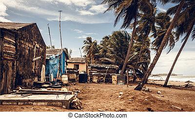 tropicale, spiaggia, Domenicano, repubblica