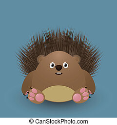 Cute baby hedgehog - Cute cartoon baby hedgehog