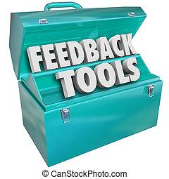 reacción, herramientas, caja de herramientas,...