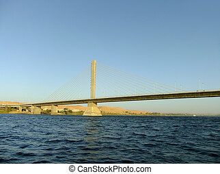 Bridge over the Nile river, Aswan, Egypt