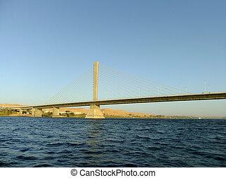 Bridge over the Nile river, Aswan, Egypt