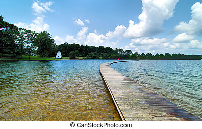 Blue Walk - Walkway at the Children's Harbor on Lake Martin,...