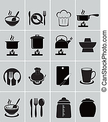 Kitchen tool, character icon, vector