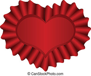 Red Heart, Isolated On White Background, Vector