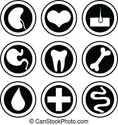 Medical icons. Vector set