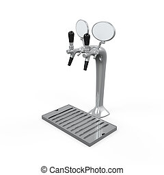 Beer Tap Isolated - Beer Tap isolated on white background 3D...