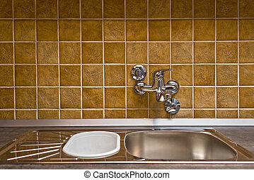 Stainless steel kitchen faucet and sink