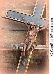 crucifix in wood
