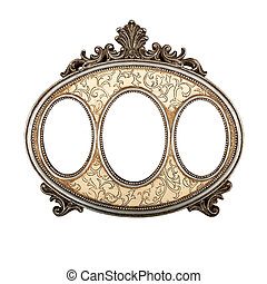 Triple picture frame - Ornate vintage triple picture frame