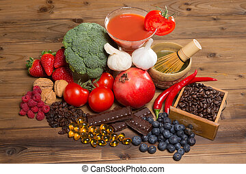 Antioxidants for good health - Healthy antioxidants fruits...